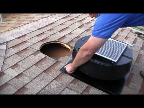Installation Instructions - 1010TR, 9915TR, US1110 Solar Powered Attic Fan