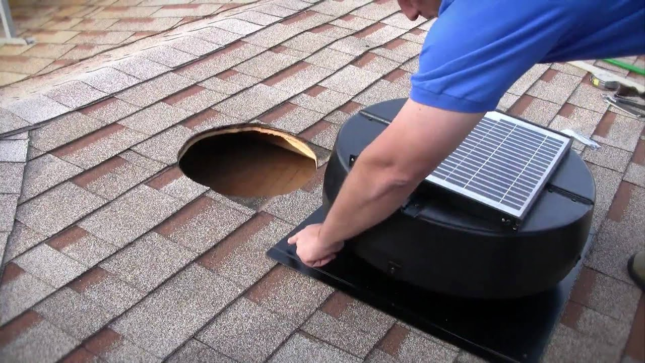 Installation Instructions 1010tr 9915tr Us1110 Solar Powered Attic Fan Youtube