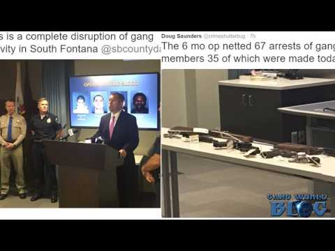67 Arrested as 'Operation Bad Blood' Targets South Fontana, Mexican Mafia Gangs