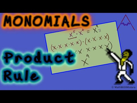 Monomials #1 - Product Rule And Positive Exponents (Multiplying Monomials)