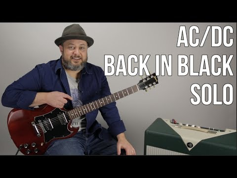 """Back in Black"" Solo Guitar Lesson - AC/DC Angus Guitar Solo Lesson"