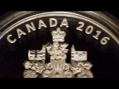 2016 Canada Coat Of Arms Silver Piedfort Unboxing in 4K