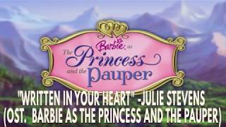 Barbie As The Princces and The Pauper : Written in your Heart KARAOKE (INSTRUMENTAL W/LYRICS)