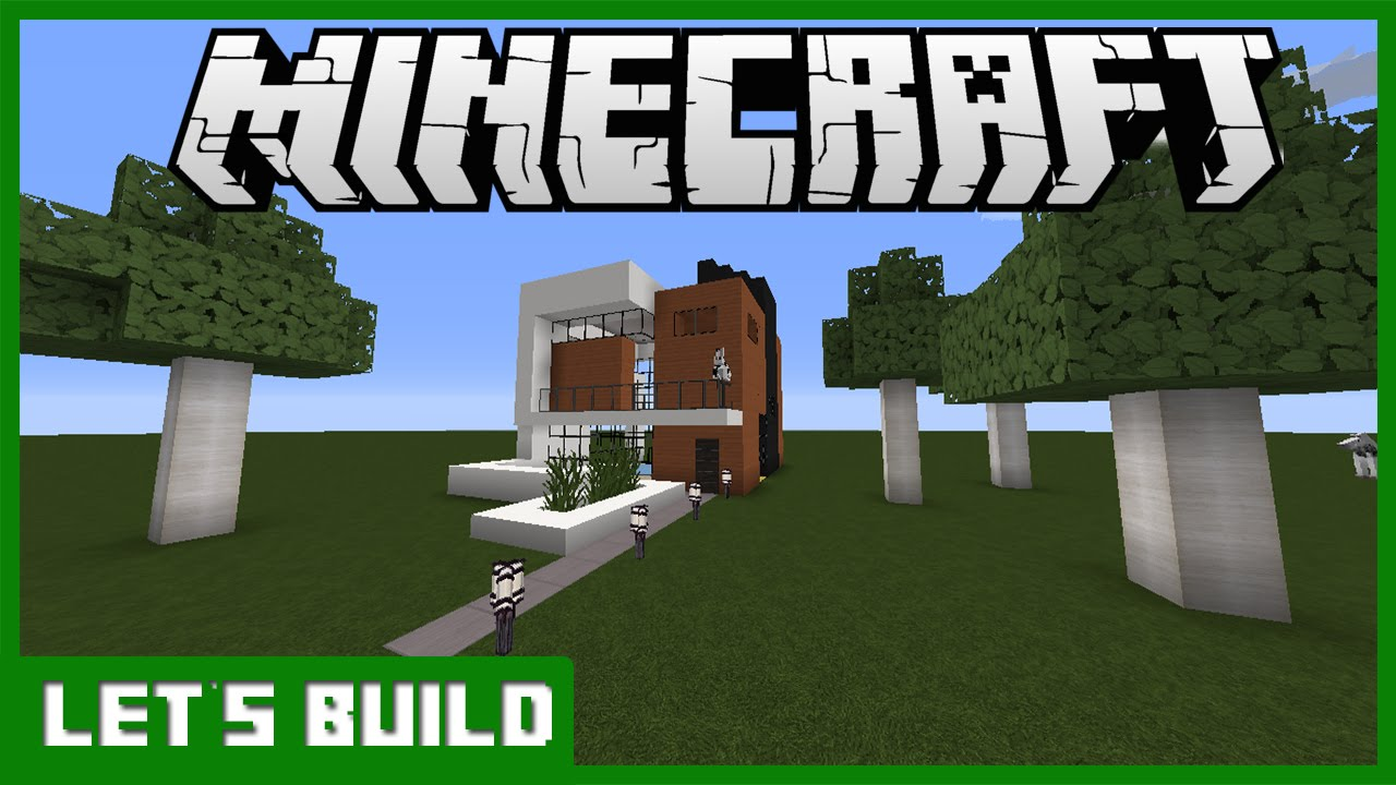 Minecraft let 39 s build modern house 1 youtube for Lets build modern house 7