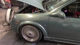 Chevy turbo c2 guero obscuro a prueba de dinamometro 1/4 de milla Dynocom 7500 series