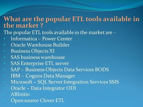 Latest ETL Testing Interview Questions and Answers for freshers and  experienced– Part 2