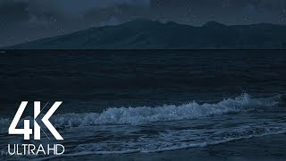 8 HOURS Tropical Beach at Night - 4K UHD - Relaxing Waves Sounds for Sleep