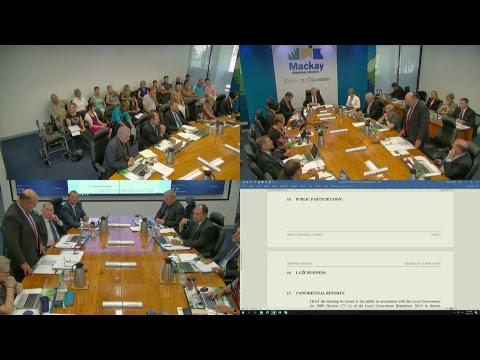 Mackay Regional Council Meeting Livestream - Ordinary Meeting 13 March 2019 (Part 1)