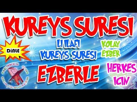 Kureyş Suresi ezberle Çocuklar için tekrarlı Liilafi Kureyş ezberleme Türkçe anlamı okunuşu meali