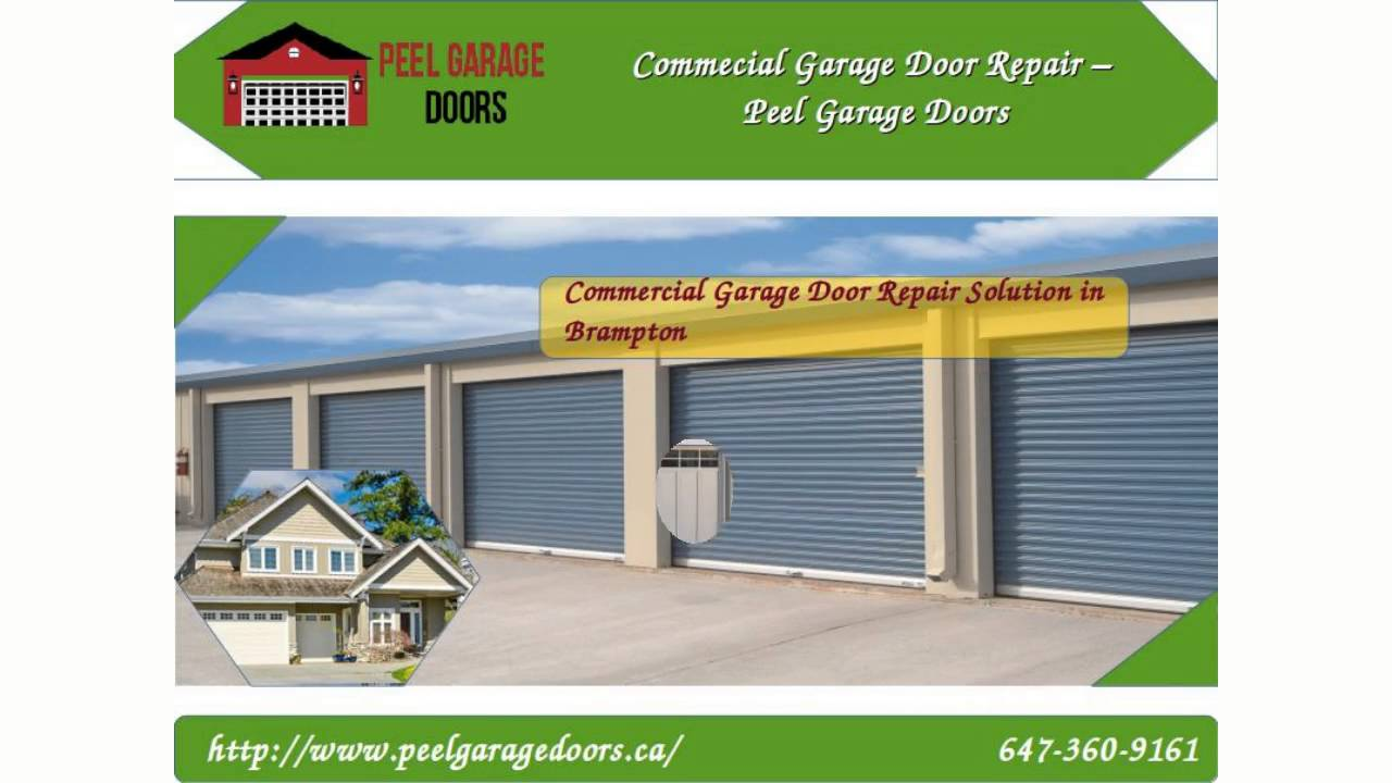 Garage Door Repair Brampton Installation Maintenance Opener Remote And Replacement Service Youtube