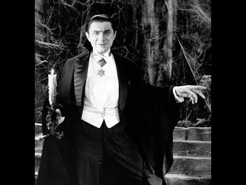 Bela Lugosi in his casket