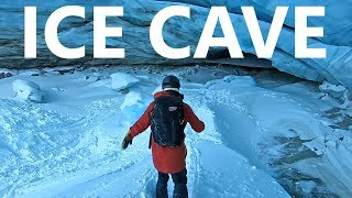 Ice Cave Snowboarding Adventure