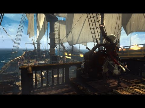 Assassin's Creed 4 Black Flag Gameplay Trailer - FIRST REAL GAMEPLAY (AC4 World Premiere Official)