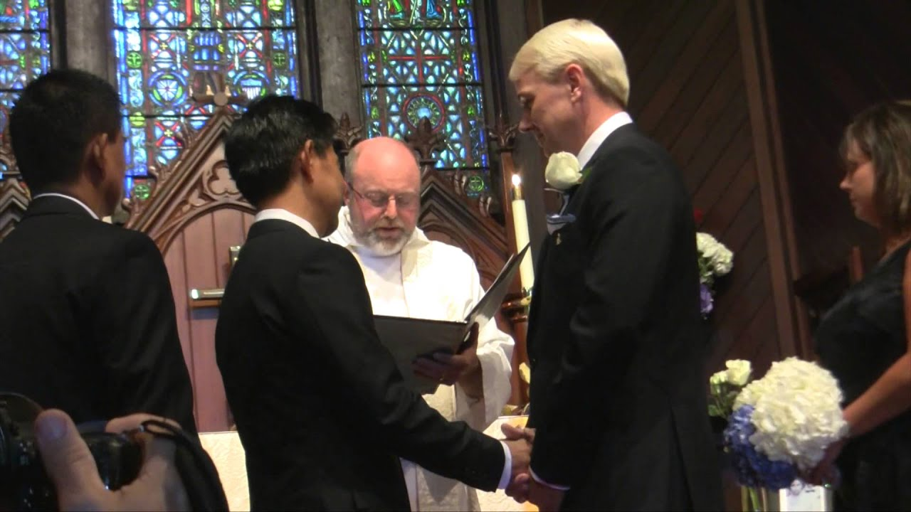 tom and nilos wedding july 4 2014 christ episcopal church sausalito ca