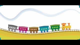 Baby train. Cartoon for kids and babys. Funny train game with colors