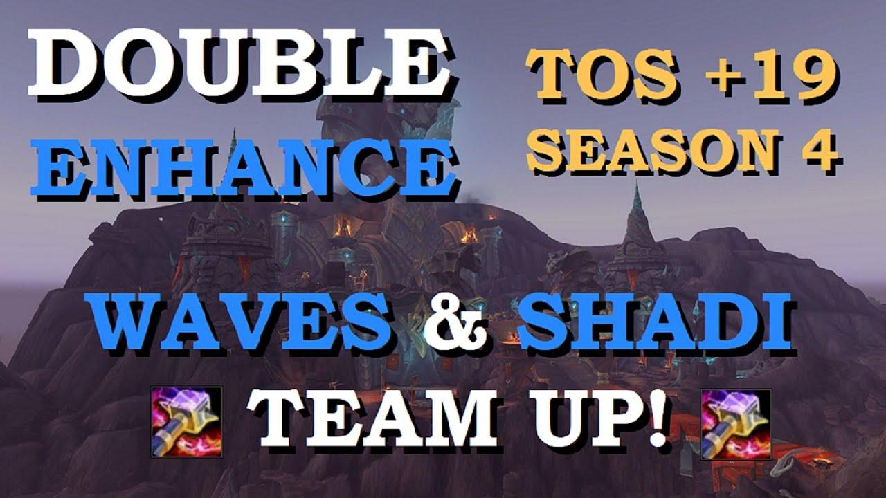 DOUBLE ENHANCEMENT! Temple of Sethraliss +19 Enhancement Shaman POV 8.3 | World of Warcraft | Waves