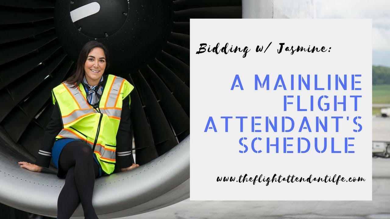 How A Flight Attendant At A Major Airline Chooses A Schedule
