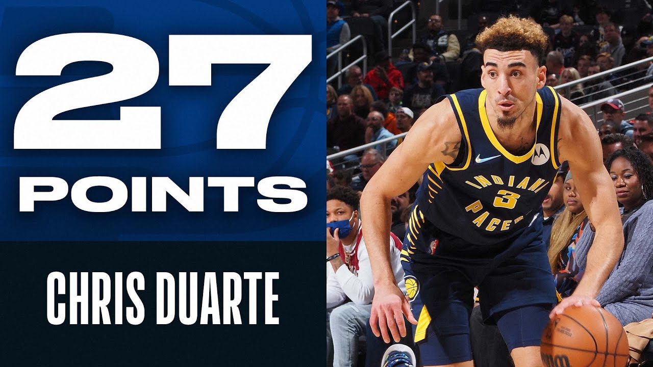 Chris Duarte ROOKIE Debut 27 PTS & 6 THEEES Setting Pacers Record! - NBA