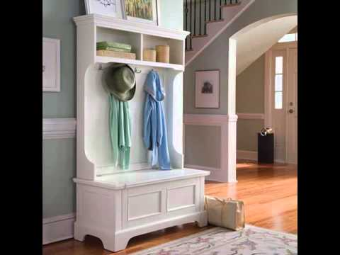 Hall Trees | Entryway Bench And Hall Tree Ideas | Storage ...