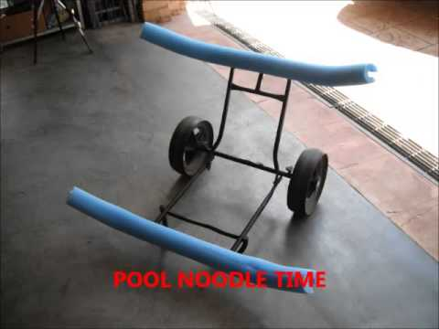 HOME MADE KAYAK TROLLEY FROM GOLF BUGGY - YouTube Kayak Loading Golf Cart on marine kayak, jet ski kayak, subaru kayak, eagle kayak,