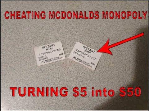 Cheating McDonalds Monopoly