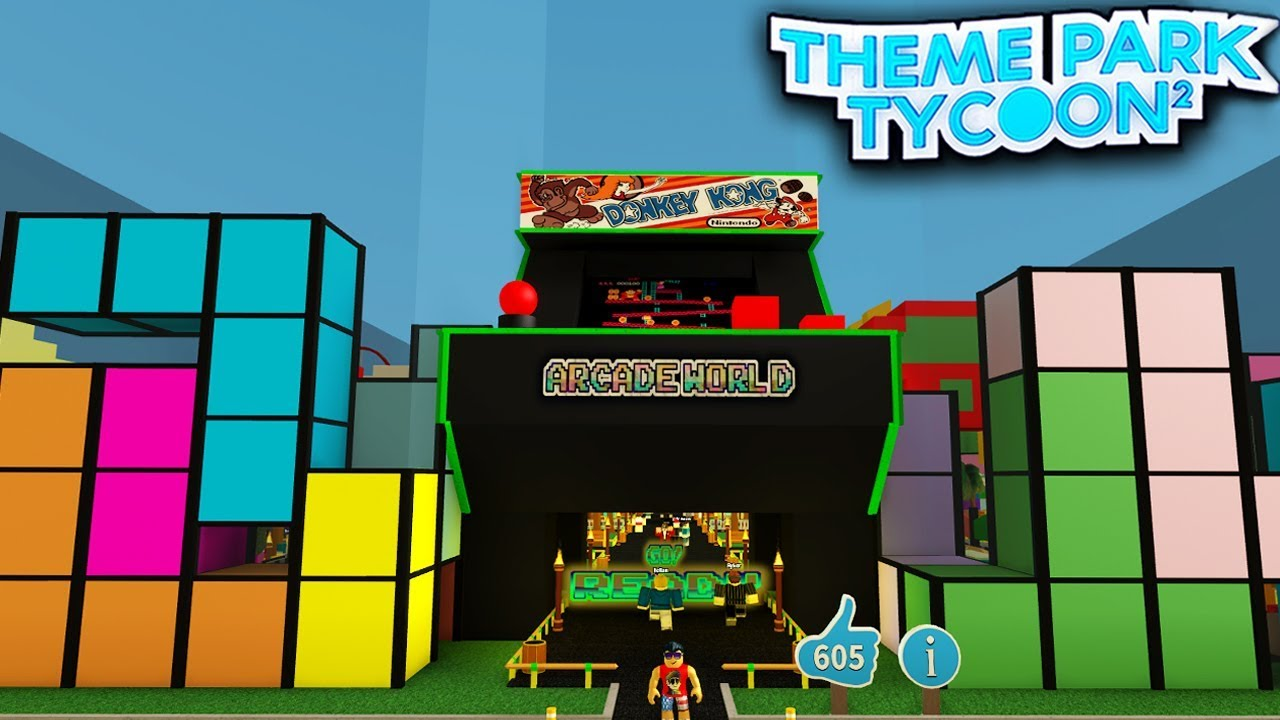Classic Arcade Park In Theme Park Tycoon 2 Roblox Youtube