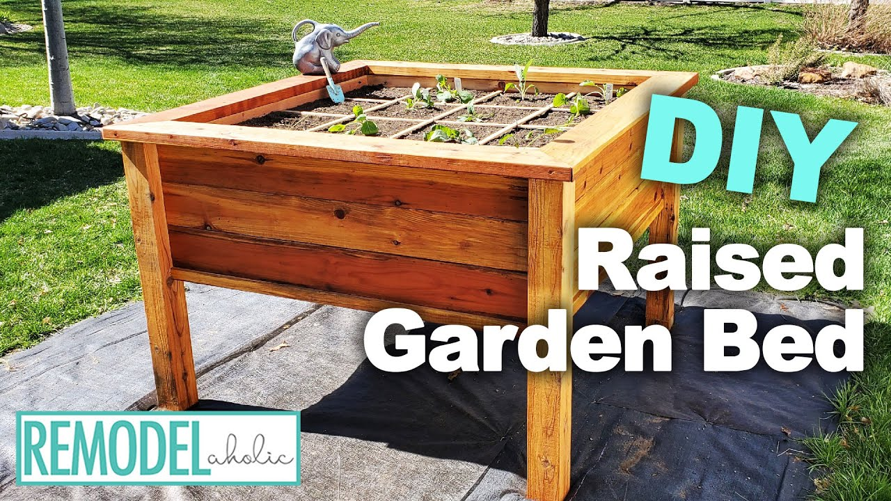 How To Build A DIY Raised Garden Bed | Square Foot Gardening | Remodelaholic - YouTube