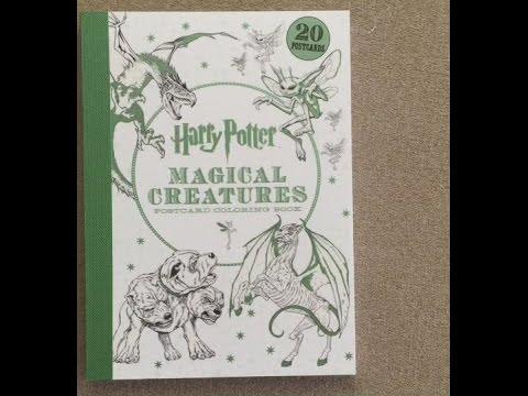 Harry Potter Magical Creatures Postcard Coloring Book Flip Through
