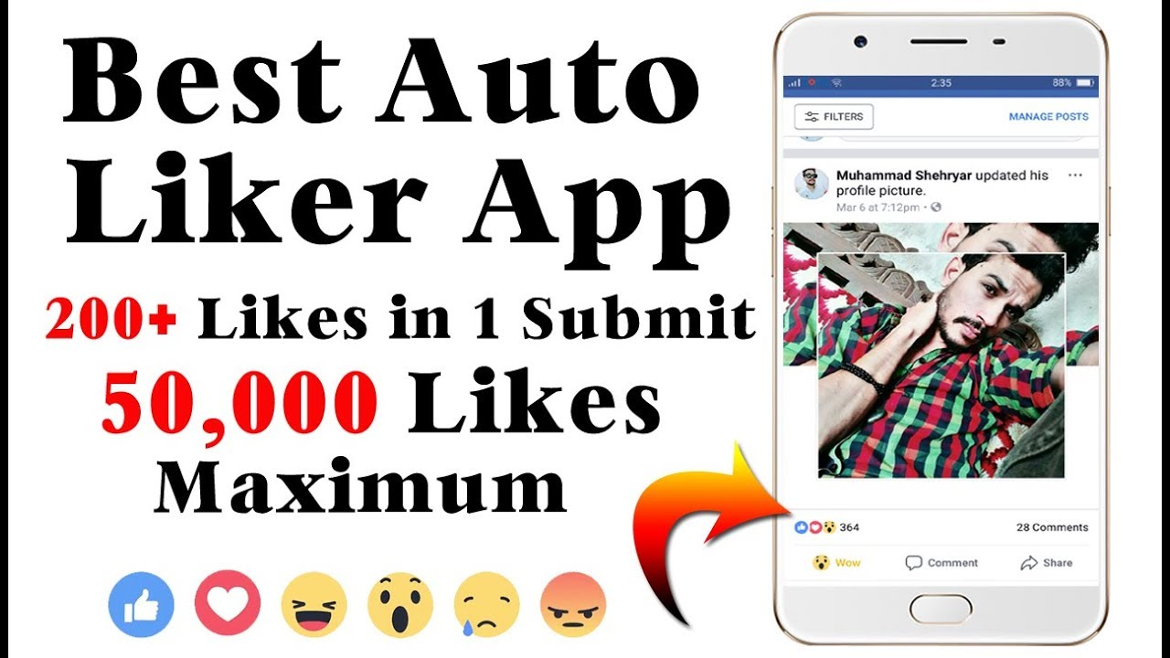 Best Facebook Auto Liker App For Android 2018 || 200+ Likes 1 Click ||  Maximum 50k Likes on 1 post