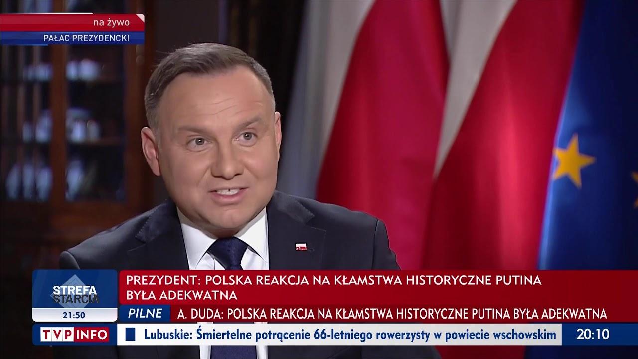Prezydent Andrzej Duda w TVP Info: Polska jest bezpieczna
