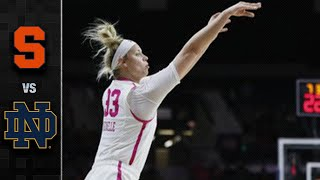 Syracuse vs. Notre Dame Women's Basketball Highlights (2019-20)
