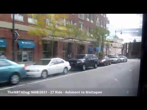 TheMBTADog: MBTA Bus 27 Ride - ASHMONT to MATTAPAN via RIVER STREET & LOWER MILLS [NABI CNG 2031]