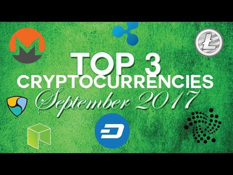 Top 3 cryptocurrencies: september 2017