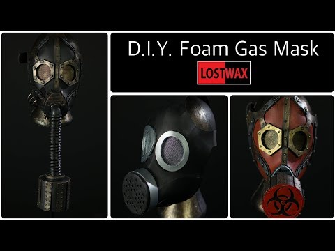 D.I.Y Cosplay Gas Mask With Pattern. How to make a Steampunk Gas Mask From Foam!