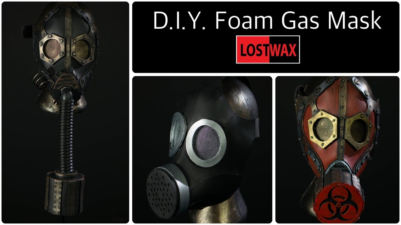 D I Y Cosplay Gas Mask With Pattern  How to make a Steampunk Gas Mask From  Foam!