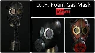 Get the pattern➜https://www.lostwaxoz.com/shop/ make your own costume gas mask for cheap from foam. in this video i will show you how to use my pattern ma...