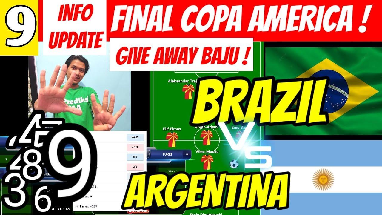 Analisa Lengkap! Prediksi Bola BRAZIL VS ARGENTINA | FINAL COPA 2021 | LINE UP | ADA #GIVEAWAY GAES