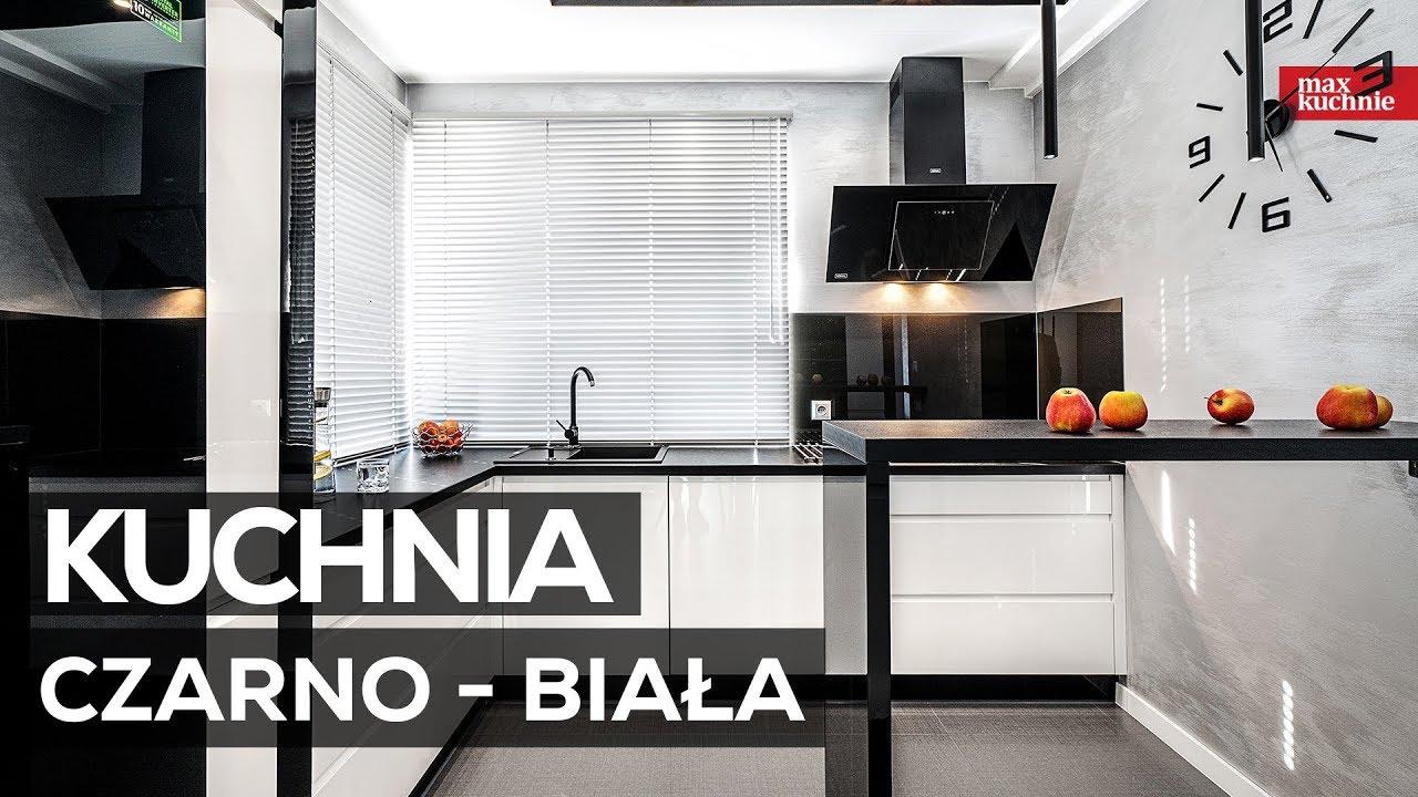 Kuchnia Czarno Biała Max Kuchnie Studio Mebli Słonex Rabka Zdrój