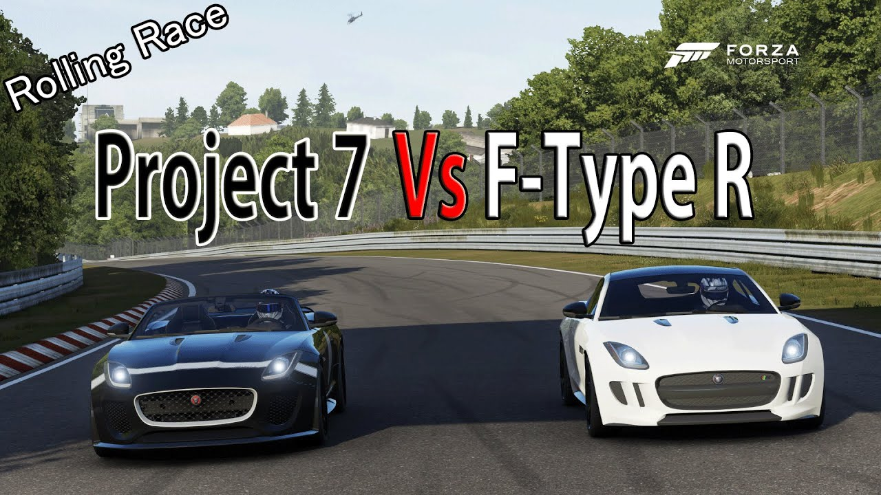 Forza Motorsport 6   DRAG RACE: Jaguar F Type Project 7 Vs Jaguar F Type R TOP  GEAR CAR PACK   YouTube