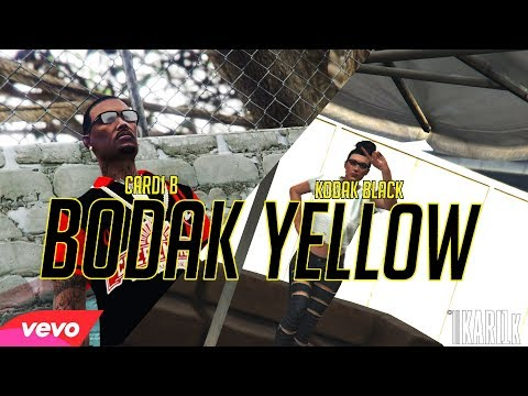 GTA5 ONLINE: Cardi B - Bodak Yellow (feat. Kodak Black) [Remix] #GTA5ONLINE