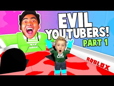 Escape The EVIL Youtubers Roblox Obby! Guava Juice, Denis & More!