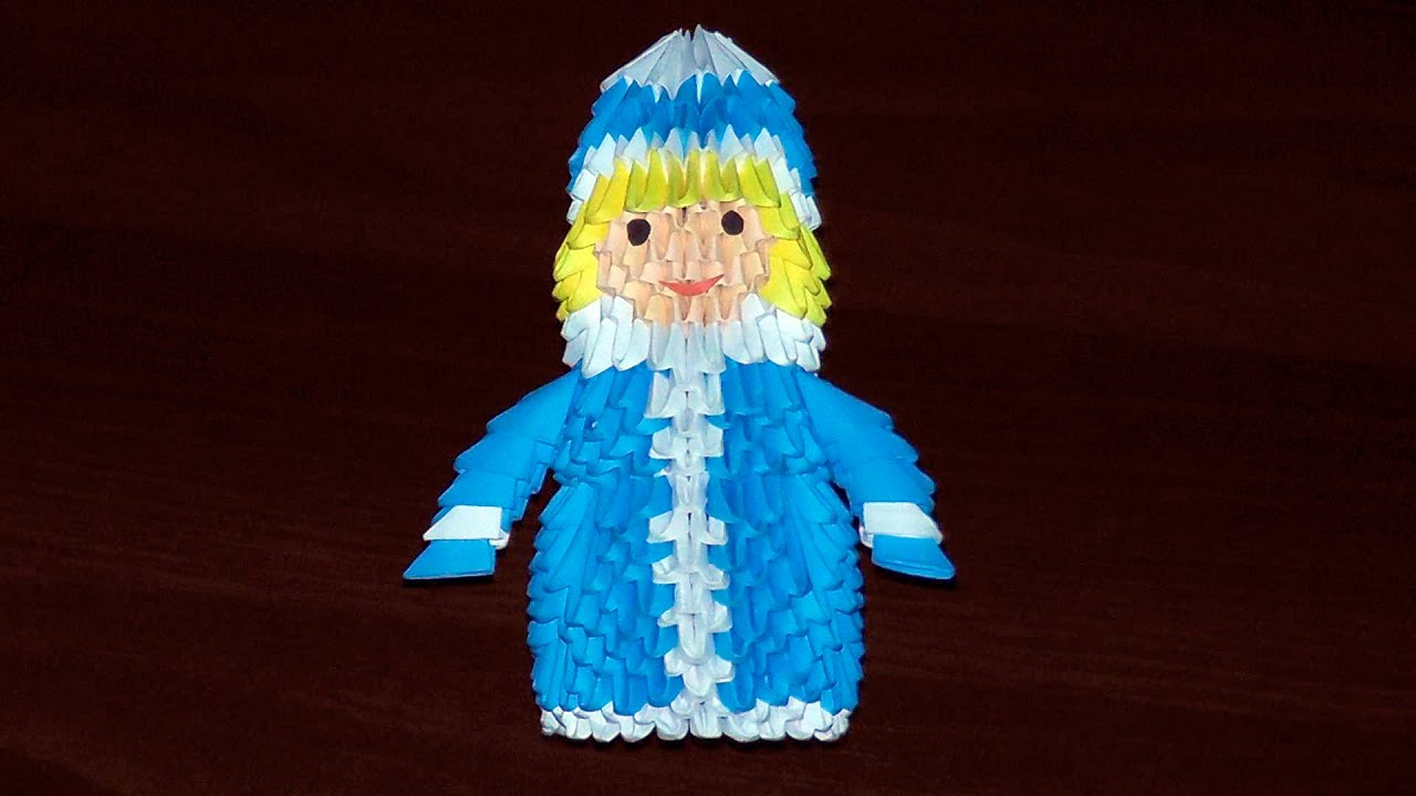 3d origami the snow maiden the daughter of the snows tutorial 3d origami the snow maiden the daughter of the snows tutorial youtube jeuxipadfo Images