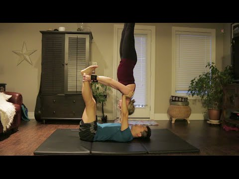 beginner acro yoga shoulderstand and variations  youtube