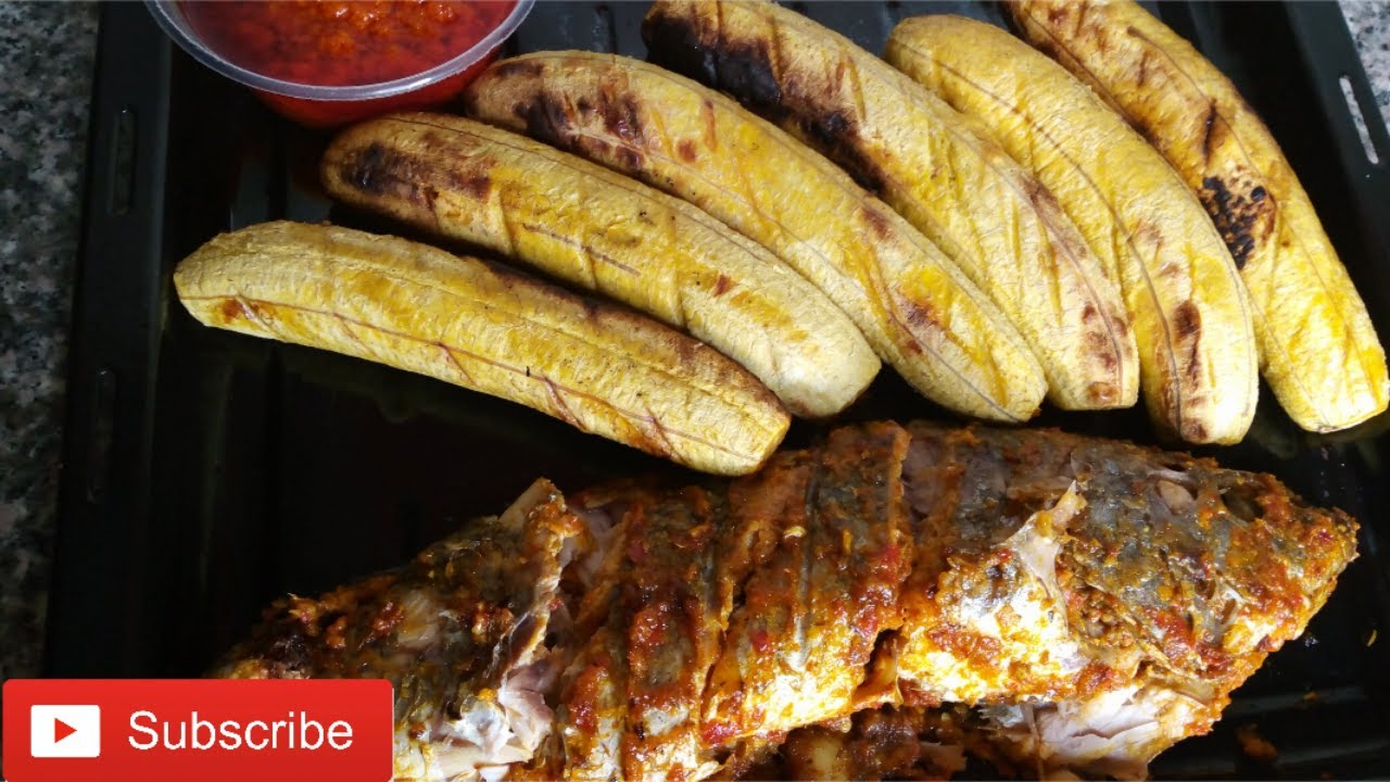 Download How to grill croaker fish and plantain at home with oven