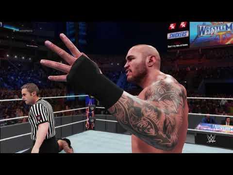 WWE 2K18 Roman Reigns vs  Randy Orton