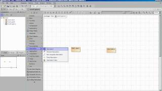 How to draw UML classes / simple associations as equivalents to ERD diagramming in magicdraw