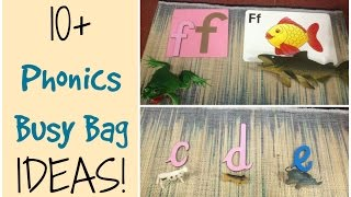 10+ Fun & easy Phonics Busy Bag Ideas for Preschoolers! (Collab)
