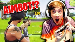 PC Player Uses *AIM ASSIST* For The First Time! (Exploiting Controller Aim Assist in Fortnite)