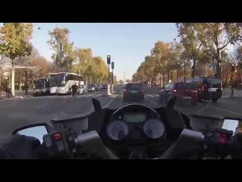 Paris sightseeing / a tour of Paris on a motorbike