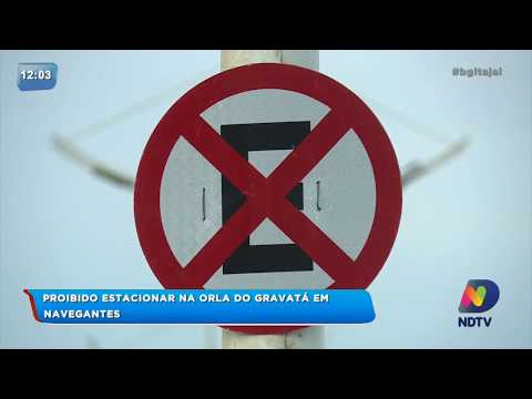 Prefeitura proíbe estacionar na orla da Praia do Gravatá em Navegantes
